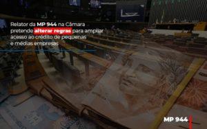 Relator Da Mp 944 Na Camara Pretende Alterar Regras Para Ampliar Acesso Ao Credito De Pequenas E Medias Empresas - O Contador Online