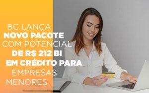 Bc Lanca Novo Pacote Com Potencial De R 212 Bi Em Credito Para Empresas Menores - O Contador Online