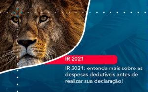 Ir 2021 Entenda Mais Sobre As Despesas Dedutiveis Antes De Realizar Sua Declaracao 1 - O Contador Online