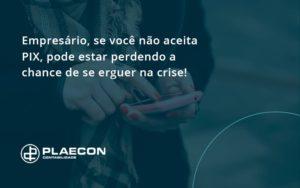 Atencao Empresarios Se Voce Nao Aceita Pix Pode Estar Perdendo A Chance De Se Erguer Na Crise Plaecon - O Contador Online