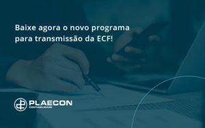 Baixe Agora O Novo Programa Para Transmissao Da Ecf Plaecon - O Contador Online