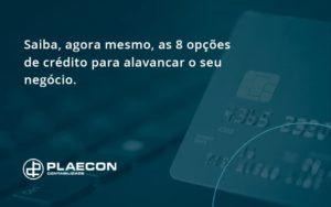 Saiba, Agora Mesmo, As 8 Opções De Crédito Para Alavancar O Seu Negócio. Plaecon Contabilidade (1) - O Contador Online