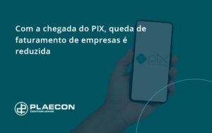 Com A Chegada Do Pix Queda De Faturamento De Empresa é Reduzida Plaecon Contabilidade - O Contador Online